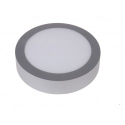 Downlight superficie 12W 6000K Plata